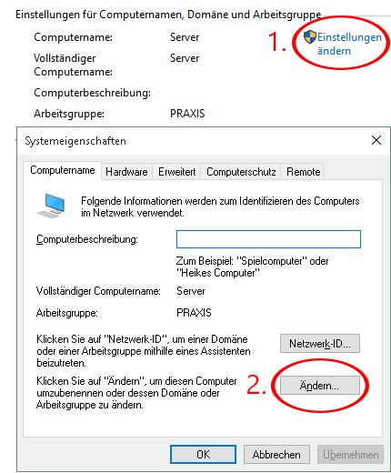 Screenshot (Sytemsteuerung - System)